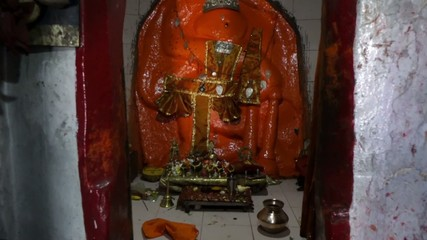 Shrine in Hanuman Temple in Humpi in India