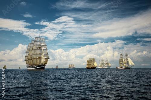 Fantastic beautiful sailing ships