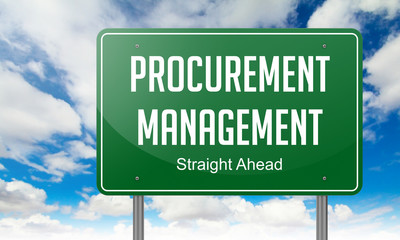 Procurement Management on Highway Signpost.