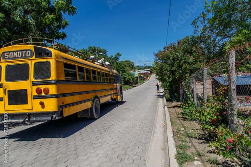 Foto op Canvas Centraal-Amerika Landen Nicaraguan public bus from Somoto in Palacagüina, Nicaragua