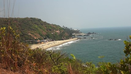Arambol beach near Sweet lake from the hill