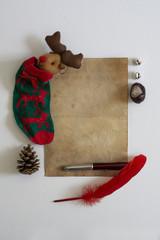 Christmas Letter, vintage paper