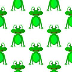 Frog seamless pattern