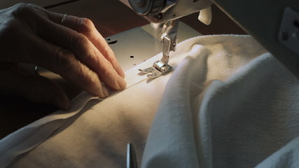 Fixing seam with Sewing machine