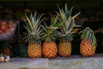 pineapple fruits from nicaraguan marketplace