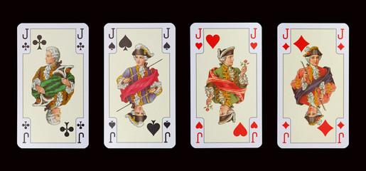 Spielkarten der Ladys - BUBEN