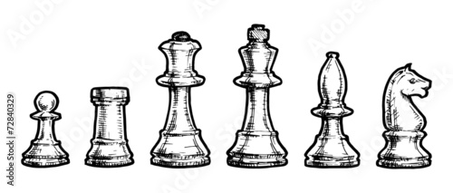 drawing  of  chess - 72840329