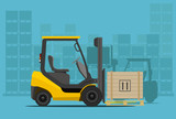 forklift in warehouse - 72840976