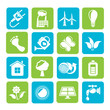 Silhouette Green, Ecology and environment icons