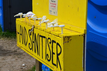 Clean your hands here