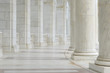 Leinwandbild Motiv Pillars in a Hallway