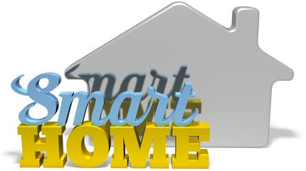 Smart home efficient automation words symbol