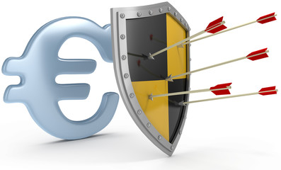 Shield protect safe Euro money security