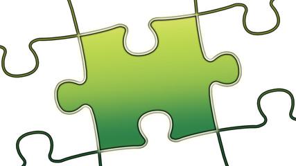 ptk41 PuzzleTeilGrafik ptk-v0 - leer - minus10grad grün g2498