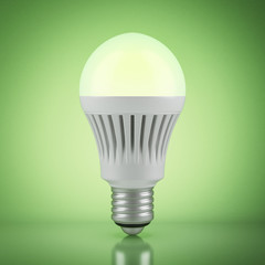 Multicolor LED bulb with wireless remote control