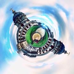 London monuments circular abstract panorama