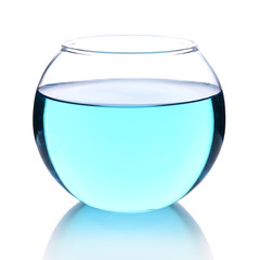 Fish bowl isolated on white