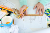 Fototapety Workplace interior designer