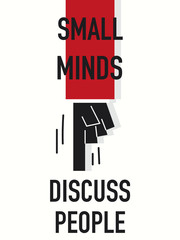 Word SMALL MINDS