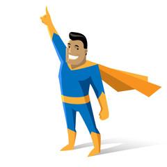 cartoon character strong hero
