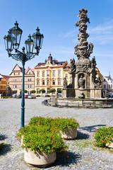 Ressl square, Chrudim town, East Bohemia, Czech republic