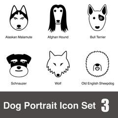 Dog character flat icon design