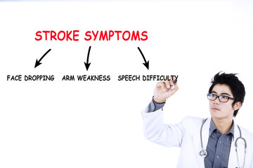 Doctor writes stroke symptoms