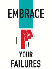 Word EMBRACE YOUR FAILURES