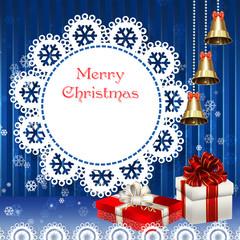 Рождество с подарками и золотыми колокольчиками