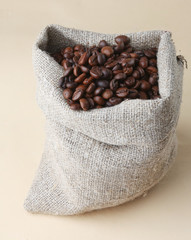 Cup from coffee on coffee grains
