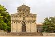 Facade of church San Pietro di Sorres in Borutta