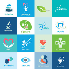 big set of medical icons