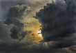 Dramatic cloudy sunset - 72852941