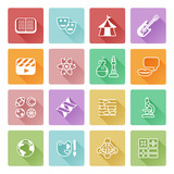 Fototapety Quiz or education subject icons