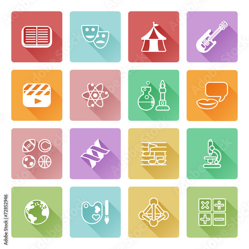 Subject Icons Free or Education Subject Icons