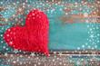 Herz und Schneeflocken