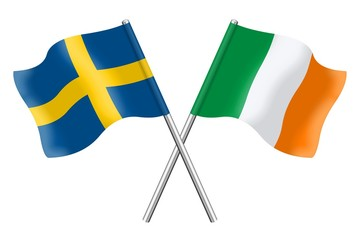 Flags: Sweden and Ireland