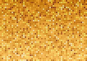 Golden Mosaic Texture - Abstract Background