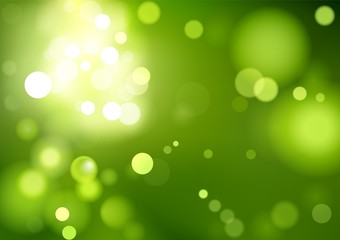 Green Bokeh Background - Abstract Illustration