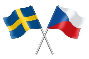 Flags: Sweden and Czech Republic