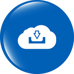 abstract cloud icon. Upload download button. Load symbol