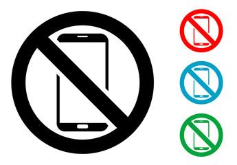 Pictograma smartphone no con varios colores