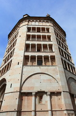 Baptistery in Parma, unesco world heritage in Italy