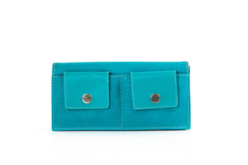 Woman green purse