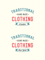 A retro vintage style clothing vector badge