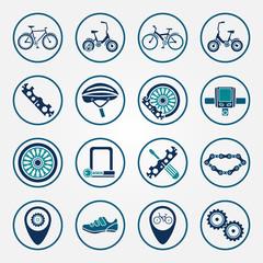 Vector biking icon set