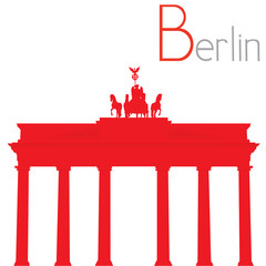 Brandenburg Gate, vector illustration