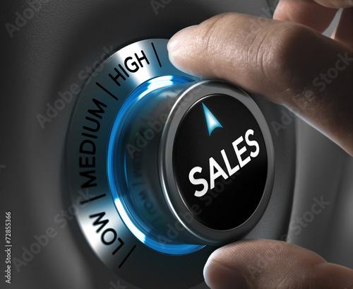Leinwanddruck Bild Sales Strategy Concept Image