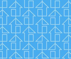 houses blue line