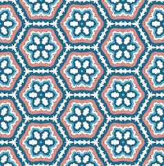 Christmas rose hexagonal pattern